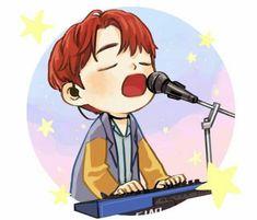 Kim Wonpil, Kpop Fanart, Day6, Chibi, Art Drawings, Kawaii, Fan Art, Entertaining, Stickers