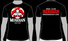 дизайн футболок для Клуба смешанных единоборств Меридиан