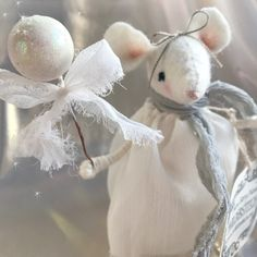 free standing little Christmas mouse holding a winter berry wand ready to wave some festive magic sparkle to your celebrations. Perfect as a Christmas table place setting with a tag around her neck with your guests name written on or simply as som. Christmas Decorations, Christmas Ornaments, Holiday Decor, Table Place Settings, Mantle Piece, Little Christmas, Watercolor Illustration, Hand Knitting, Berries