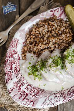 Kotlety wieprzowe w sosie chrzanowym Oatmeal, Breakfast, Food, The Oatmeal, Morning Coffee, Rolled Oats, Essen, Meals, Yemek