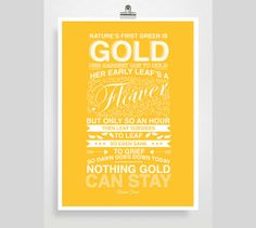 The Outsiders Movie Poster Robert Frost Poem by POSTERED on Etsy, $15.00