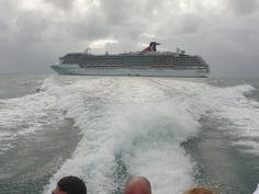 Tendering into Belize City from the Carnival Legend...