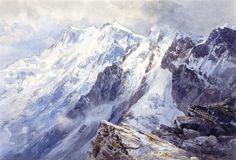 Edward Theodore #Compton (1849 - 1921) ,Monte Rosa East-Face