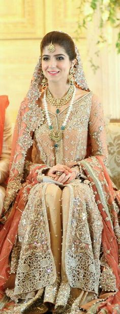 Bridal Dresses 2017 Pakistani For Walima 38 Ideas Bridal Dresses 2017 Pakistani, Walima Dress, Pakistani Outfits, Indian Dresses, Anarkali Bridal, Indiana, Pakistani Couture, Bridal Outfits, Facon