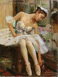Principle Dancer - Irina Kosheleva (2006) - Oil by Vasili I. Bratanyuk