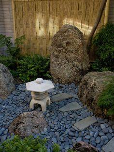 mini jardin japonais, déco zen pour l'extérieur
