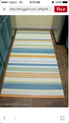 Painting A Floor Cloth Using The Backside Of Vinyl Flooring Via Flea Market  Trixie | Interior Design And Other Ideas For Home | Pinterest | Floor Cloth