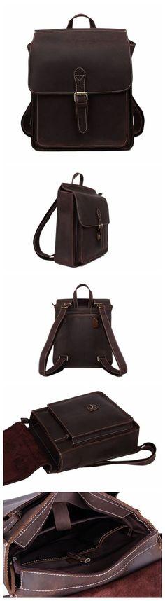 Vintage Leather Backpack, Messenger Bag, Laptop Briefcase, Handbag 6963