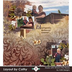 This layout was created with The Wind in the Reeds by #ADBDesigns. It is a collection of vintage elements and papers from a palette of neutral brown, taupe, mauve, smoke, and green with highlights of white. This palette is perfect for heritage scrapping and lends itself well to images of men and families. SAVE 30 - 60% off through November 20 #ADBDesigns #goDigitalScrapbooking #Mixology #CTHS