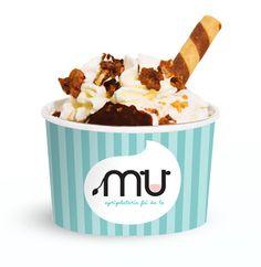 ecco in anteprima la mitica coppetta di gelato di Mu Agrigelateria, la puoi riempire e guarnire come vuoi tu