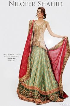 Beautiful color combination #Indian bridal wear
