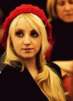Evanna Lynch...Lunalovegood in Harry Potter..Her character...honest but not mean, caring and forgiving.  Everyone needs a friend like that!