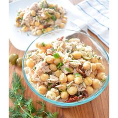 Mediterranean Tuna Salad With Chickpeas, Tuna & Basil via @feedfeed on https://thefeedfeed.com/herbs-and-spices/jennafreshandfit/mediterranean-tuna-salad-with-chickpeas-tuna-basil