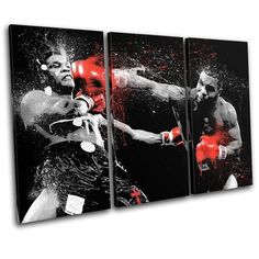 Mike Tyson 3-Piece Canvas Wall Art