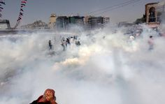 #occupygezi Istanbul:    This photo from Friday afternoon shows the amount of tear gas used in Taksim.