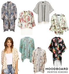 364864b252071 Moodboard Printed Kimonos – Sew DIY Jewels Clothing, Kimono Pattern, Kimono  Top, Sewing
