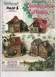 Free Plastic Canvas Pattern Countryside Cottages  Gallery.ru / Фото #1 - 3 - 2in1