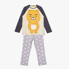 Kakao Friends Women Cozy Home Wear Pajama Set Sleepwear Ryan Free Size  #KakaoFriends #PajamaSets #Everyday