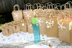 Large and Small Under the Sea Themed Goodie Bags by MyFashionLove Paris Birthday Parties, Birthday Party Themes, Birthday Fun, Under The Sea Theme, Under The Sea Party, Mermaid Party Favors, Little Mermaid Parties, Gift Bags, Goodie Bags