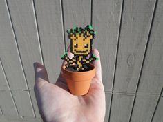 Mini Groot Fusion Bead Potted Plant / Hama / von PixelatedBeads