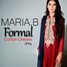 Maria B Formal Cotton Dresses- Elegant Smart Embroidery Work - She9 | Change the Life Style