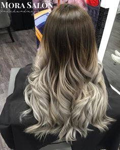 long+brown+to+silver+ombre+hair