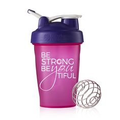 Be Strong BeYOUtiful – 20oz Blender Bottle Classic. The perfect shaker cup for your smoothies and protein!