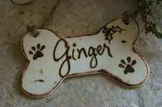 Dog Bone Personalized Christmas Ornament by PrinceWhitaker on Etsy