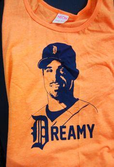Dreamy Brad Ausmus Detroit Tigers Tank Top