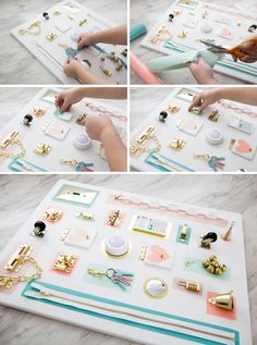 In this detailed tutorial, we're sharing how to make busy boards for your toddlers, both for in the house and in the car! No power tools needed! Toddler Activity Board, Toddler Learning Activities, Infant Activities, Learning Games, Activity Boards For Babies, Kids Learning, Baby Sensory Play, Baby Play, Baby Toys