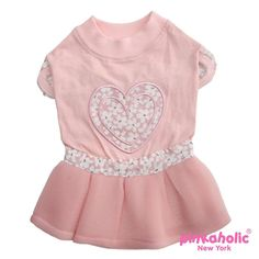 This adorable dog dress by Pinkaholic will have your pups tail waggin every time she sees this little number! Heart shaped applique on back; air-mesh skirt