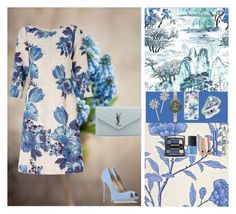 """""""This Delightful Spring"""" by oksana-kolesnyk ❤ liked on Polyvore featuring Designers Guild, SANDERSON, Adrianna Papell, Lancôme, Sonix, Marc Jacobs, Jennifer Behr, Diamondere, Vivienne Westwood and NARS Cosmetics"""