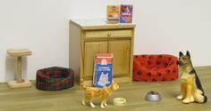Elf Miniatures ~ Adorable miniature pets and supplies to decorate your doll house.