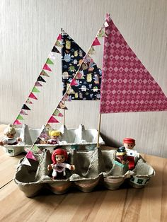 Egg boat sailboat / sailing ship # craft projects for spring egg carton … Craft Activities For Kids, Preschool Crafts, Toddler Activities, Projects For Kids, Diy For Kids, Craft Projects, Crafts For Kids, Literacy Activities, Craft Ideas