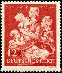 """Mother and Children"" German stamp"