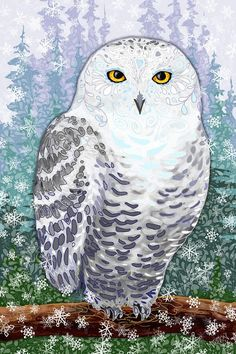 'Snow Owl II' by Sharon Marcella Marston