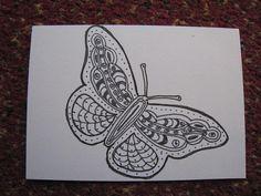 Zentangle Butterfly 1 by vintageterrace2, via Flickr