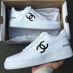 Chanel Boots Trending Chanel Boots for sales. - Chanel Boots - Trending Chanel Boots for sales. - Chanel Boots Trending Chanel Boots for sales. Sneakers Fashion Outfits, Fashion Shoes, Souliers Nike, Reflective Shoes, Chanel Boots, Chanel Sneakers, Nike Shoes Air Force, Cute Sneakers, Sneakers Women