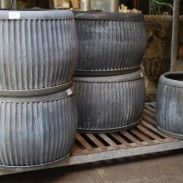 Galvanized Corrugated Round Tub