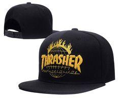 Men s Thrasher x Huf TDS Tour De Stoops Worldwide Baseball Snapback Hat -  Black   Yellow. Mlb Baseball CapsNew ... 877632bc37ad