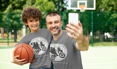 Kids Father's Day Shirt Bicycle T Shirt Matching Tee Bike Over Moon Hipster Son Daughter Dream Best Dads Dinosaur Geek Gift Boys Girls Garment Bags, Fathers Day Shirts, Matching Shirts, Geek Gifts, Lady V, Best Dad, Birthday Shirts, Idea Man, Dads