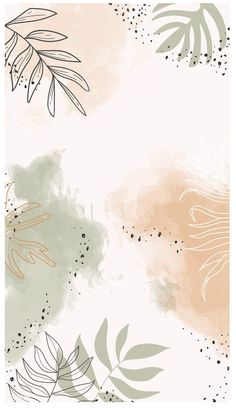 Obtain premium vector of Beige leafy watercolor cell phone wallpaper Wallpaper Pastel, Phone Wallpaper Images, Aesthetic Pastel Wallpaper, Iphone Background Wallpaper, Unique Wallpaper, Wallpaper For Your Phone, Watercolor Background, Aesthetic Wallpapers, Handy Wallpaper