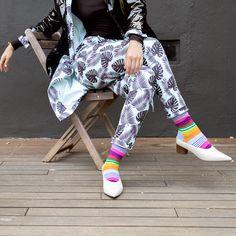 Multi Stripe Sock – Fall/Winter '18 collection HappySocks.com Crazy Socks For Men, Women's Socks, Striped Socks, Colorful Socks, Happy Socks, Fall Winter, Dress Up, Pants, Collection