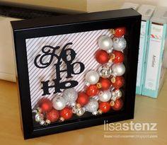 """""""Ho Ho Ho"""" Christmas Shadow Box (Lisa's Creative Corner)"""