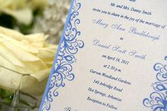 beautiful blue wedding invitations from mox paperie