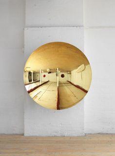 Gold sculpture by Anish Kapoor. - #art #sculpture #anishkapoor #gold #interiordesign #homedecor #josephcarinicarpets