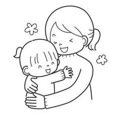 dibujos de mamás para colorear