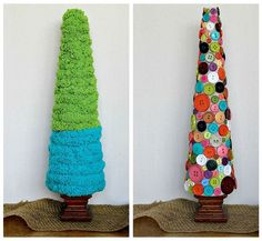 DIY styrofoam Christmas trees - this will be one of our advent activities this yera.