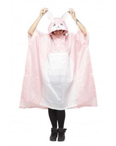 c27ac9486d16ab Pink Rabbit Rain Poncho Festival Essentials, Rain Poncho, Pink Rabbit, Wet  Weather,