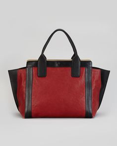 Chloe - Alison Small Tote Bag, Red/Black